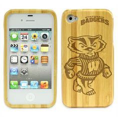 Wisconsin Badgers Bamboo Case for iPhone® 4/4s