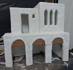 EL BELÉN DE CARLOS: BELÉN EN BENAVENTE 2017 - Como se hizo Fontanini Nativity, Paper Art, Projects To Try, Display, Crafty, Houses, Home Decor, Styrofoam Crafts, Arch