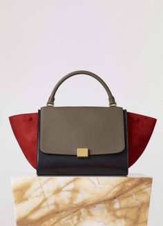 b2174c0ac272 Medium Trapeze Handbag in Multicolour Bullhide Calfskin and Grained Nubuck  - Fall   Winter Collection 2015