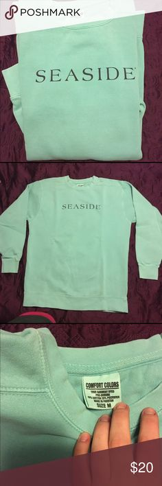 Blue seaside sweatshirt Worn once, light turquoise-ish sweatshirt, size medium. Bought at the seaside store in Florida! Make me an offer! Sweaters