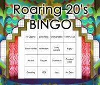 Roaring 20's Themed Bingo Set Download - perfect for a Roaring 20's theme party!