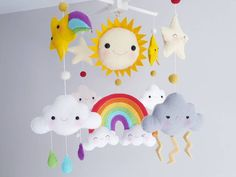 Weather Mobile, Mobile Photo, Snow Clouds, Cloud Mobile, Thing 1, Be Natural, Felt Ball, Cot, Cribs