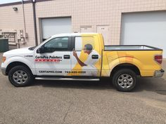 This partial truck wrap makes a big impact when driving down the road!