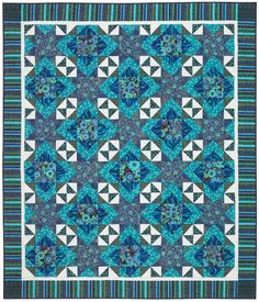FREE PATTERN- Timeless Treasures- Bijoux – Twinkling Gems Quilt by Nancy Mahoney