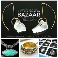 Come to the Artisan Bazaar @grandbazaarnyc this Sunday! So excited to show with other @EtsyNY jewelry makers - @billowarejewelry and @esmeraldadesigns  #Jewelry #Jewelergram #JewelryBlogger #Accessories #Style #InstaJewelry #MadeInBrooklyn #MadeInNYC #Handcrafted #Handmade #EtsyNY #MarketsOfNewYork #NYCMarkets #NYC #HandmadeJewelry #DesignerMarket #NYCArtists #NYCJewelry #MSpringStudio #MSpring #EtsyFinds #ByHand - http://ift.tt/2boeZhE