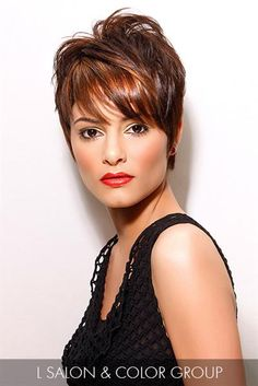 Trendy hairstyles to try in Photo galleries for short hairstyles, medium hairstyles and long hairstyles. Hairstyles for women over Hairstyles for straight, curly and wavy hair. 2015 Hairstyles, Pixie Hairstyles, Trendy Hairstyles, Medium Hairstyles, Short Sassy Hair, Short Hair Cuts, Short Hair Styles, Pixie Cuts, Pixie Haircut Color