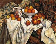 """Cezanne's oil-on-canvas painting """"Still Life with Apples and Oranges"""" (ca. 1895-1900)"""