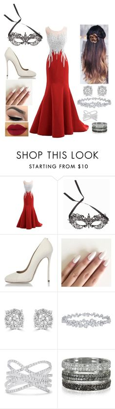 """A Masquerade Party in New Orleans"" by mrsbreezy0522 ❤ liked on Polyvore featuring NLY Accessories, Dsquared2, Effy Jewelry, Harry Winston and Bernard Delettrez"