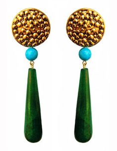 ** Emerald Green Jade Earrings| Cashmere and Indigo