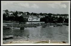 Vestfold fylke Horten kommune Åsgårdstrand havnemotiv 1950-tallet Utg A.Mathisen, Tønsberg