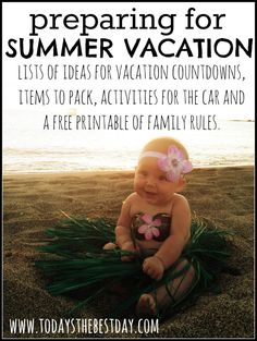 Summer is right around the corner! Planning a family vacation? Be prepared with the right activities to keep your kids occupied during the long travel hours. *Free family rules printable* #summer #activity #printable #vacation
