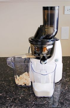 How to: Make Nut Milk in your Juicer & a Recipe For Cashew Milk | Cravethegood.com  Have you ever wondered if you could make nut milk in your masticating juicer?