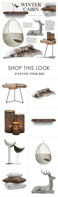 """Into the Woods: Cozy Cabin"" by jecikilicica ❤ liked on Polyvore featuring interior, interiors, interior design, home, home decor, interior decorating, Safavieh, Bitossi, Hudson Park and cozycabin"