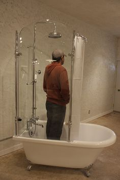 My one-day dream is to have a clawfoot tub. This shower enclosure ...