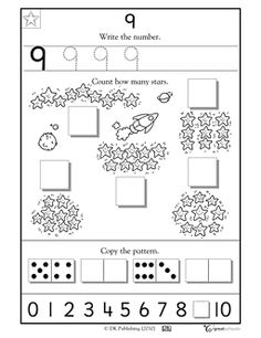 number 9 kindergarten printables | Learning #9 - Worksheets & Activities | GreatSchools