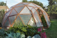 How to Build a Geodome Greenhouse #garden #greenhouse