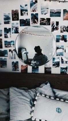 Cute Bedroom Decor, Cute Bedroom Ideas, Teen Room Decor, Room Ideas Bedroom, Small Room Bedroom, Bedroom Inspo, Beachy Room, Cozy Room, Dream Rooms