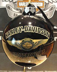 "Harley Davidson 110th Anniversary Large Christmas Ball Ornament 4"" Round"