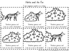 """Mem fox coloring pages In while working in drama, Fox decided to retrain in literacy studies. She said: """"Literacy has become the great focus of my life – it's my passi. Predicting Activities, Sequencing Activities, Language Activities, Reading Activities, Classroom Activities, Fox Coloring Page, Coloring Book, Mem Fox Books, Star Reading"""