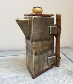 #teapot with bambù handle