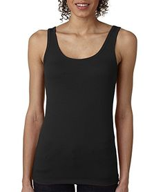 Next Level Womens The Jersey Tank Top 3533-Black-XX-Large