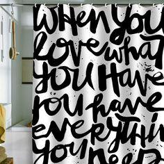 Kal Barteski If You Love Shower Curtain