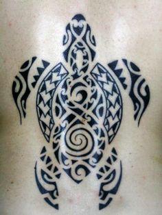 polynesian turtle tattoo