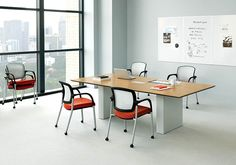 must be the least tacky options found online :P I'm waiting for quote for these Selected the walnut veneer and the aluminum t legs for rectangular table and aluminum x for round tables. Office Furniture Warehouse, Conference Table, Conference Meeting, Computer Armoire, Office Seating, Stylish Office, Table And Chairs, Furniture Making, Interior Inspiration