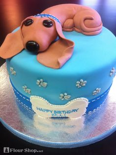 Adorable Daschund Puppy Cake