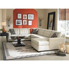 Broyhill Furniture Tribeca Contemporary Sectional Sofa With Right Chaise    AHFA   Sofa Sectional Dealer Locator