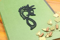 Excited to share the latest addition to my #etsy shop: Norse black lace dragon, Romanian Point Lace picture, Macrame, Celtic wall hanging, Viking home decor, Gift for lovers of Norse mythology https://etsy.me/2GAD7QX