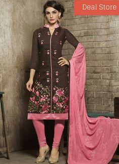 EMBROIDERED WORK CHURIDAR DESIGNER Salwar Kameez Suit