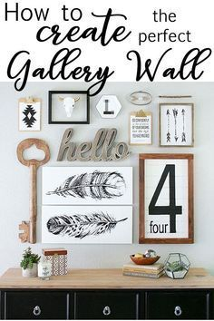 Gallery Walls can be tough, especially if you've never done one before. Let me walk you through the important steps to make that gallery wall just perfect. Modern Industrial Chic Rustic Industrial Farmhouse Style Home Decor #farmhousestyle #rusticdecor