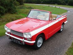 Little Triumph Vitesse. I'd so rock this little car. (And they're tougher then they look, I've seen 'em on the track before!)