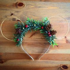 Wire mouse Christmas ears mickey ears wire ear by KrausHausKrafts