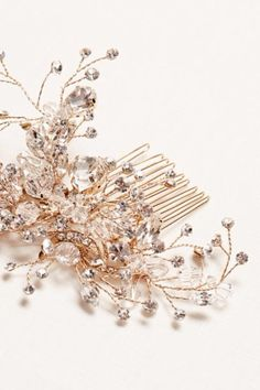 Beautiful hair accessory for your wedding day. Crystal and rhinestone hand wired comb.