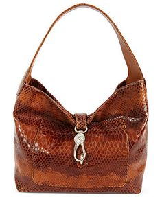 Dooney & Bourke Handbag, Python Embossed Pocket Satchel