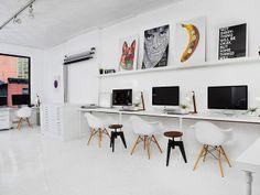 Ambiente de trabalho Sagmeister Arquiteto: Studio Renovation Fonte: Sagmeister&Walsh