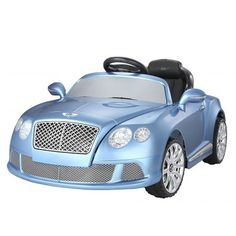 Bentley Continental GT Licensed Battery Powered Ride On Car for Kids 12V in blue