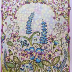 Take a peek at this great artwork on Johanna Basford's Colouring Gallery! Coloring Book Art, Colouring Pages, Adult Coloring, Joanna Basford, Johanna Basford Coloring Book, Colored Pencil Techniques, Naive Art, World Of Color, Colored Pencils