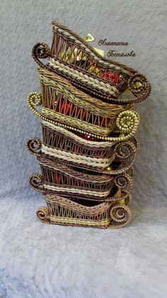 Newspaper Crafts, Old Newspaper, Basket Weaving, Woven Baskets, Anastasia, Bangles, Album, Gold, Jewelry
