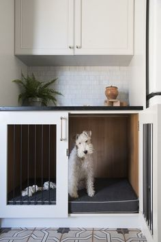 Non-negotiable Dog Room Decor Essentials - Hey, Djangles. Animal Room, Dog Room Decor, Diy Dog Crate, Dog Crate Beds, Dog Crate Table, Dog Spaces, Small Spaces, Dog Area, House Ideas