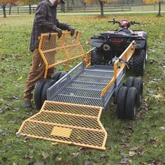 This handy Bannon Utility Trailer features a large x steel bed to haul loads up to lbs. Atv Dump Trailer, Atv Utility Trailer, Quad Trailer, Trailer Diy, Trailer Plans, Trailer Build, Trailer Storage, Accessoires Quad, Utv Trailers