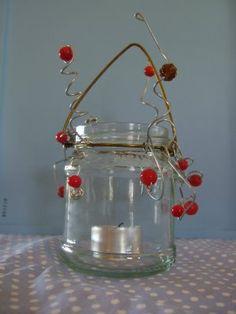Use red tissue paper & jars & have Joy, love, etc, cut out w/ t light inside like the pumpkin idea.