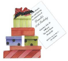 Bouquet of Gifts Invitation