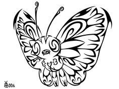 #012: Tribal Butterfree by blackbutterfly006.deviantart.com on @deviantART