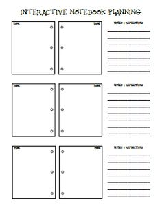 Awesome lesson plan template that can be used for any