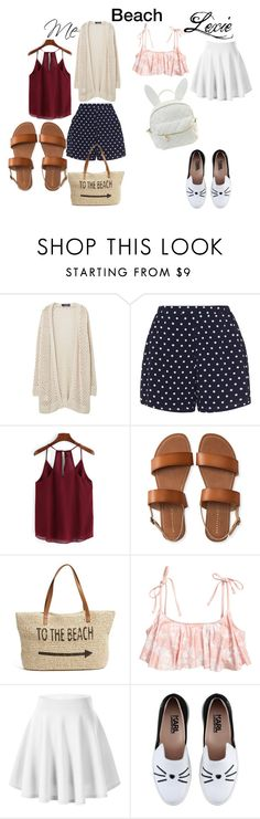 """""""Me vs my sisters beach look"""" by briannadoll0 ❤ liked on Polyvore featuring Violeta by Mango, Zizzi, Aéropostale, Straw Studios, Karl Lagerfeld and cutekawaii"""