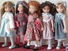 Sandra, Tiffany, Angela, Naïs et Léonie, all dressed by Les Cheries de Vaniline