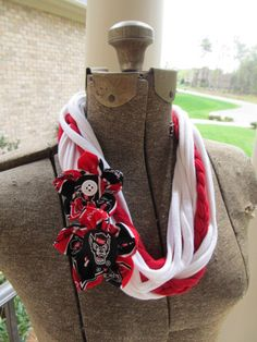 Handmade State Wolfpack NCSU NC State Necklace by JustPennies, $20.00
